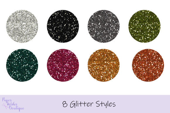Print on Demand: 8 Glitter Photoshop Styles Graphic Layer Styles By PaperWishesBoutique