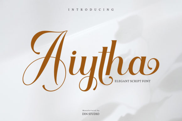 Print on Demand: Aiytha Script & Handwritten Font By Din Studio