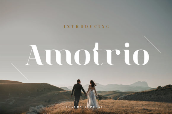 Print on Demand: Amotrio Serif Font By geengraphy