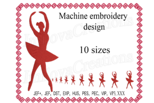 Ballerina Design Dance & Drama Embroidery Design By ImilovaCreations