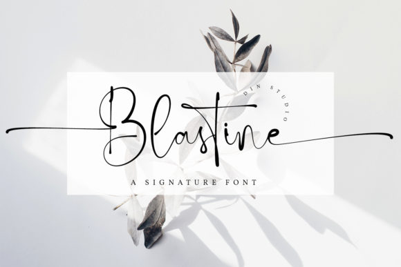 Print on Demand: Blastine Script & Handwritten Font By Din Studio