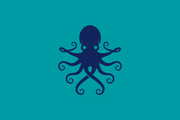 Blue Octopus Animal Logo Template Graphic Logos By vectorwithin