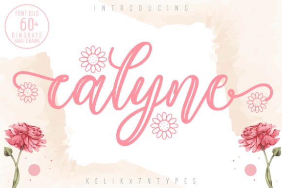 Print on Demand: Calyne Script & Handwritten Font By Kelik - 7NTypes