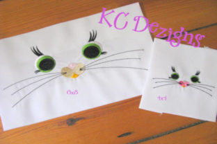Cat Eyes and Nose Design Boys & Girls Embroidery Design By karen50