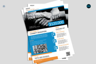 Charity Donation Flyer V2 Graphic Print Templates By risegraph