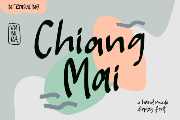 Print on Demand: Chiang Mai Script & Handwritten Font By Vunira