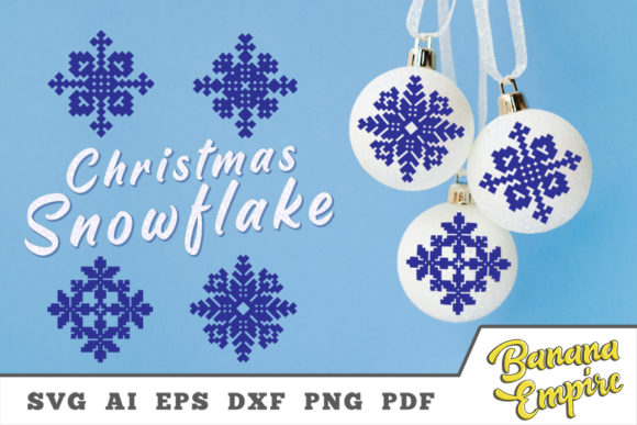 Print on Demand: Christmas Craft Snowflake Graphic Crafts By Banana Empire