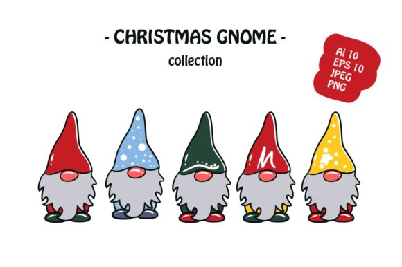 Print on Demand: Christmas Gnome Illustration Graphic Illustrations By archshape