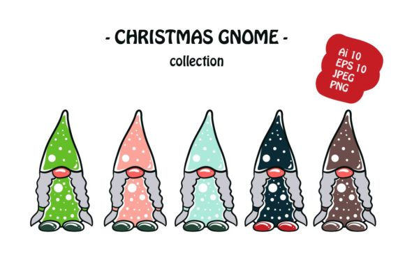 Print on Demand: Christmas Gnome Pack Illustration Graphic Illustrations By archshape