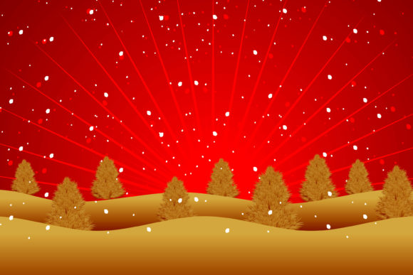 Print on Demand: Christmas Illustration in Gold and Red Graphic Illustrations By edywiyonopp