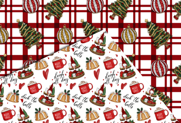 Christmas Seamless Patterns Graphic Preview