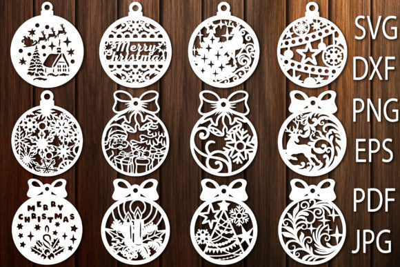 Print on Demand: Christmas Toys, Christmas Balls Graphic Crafts By yulnniya