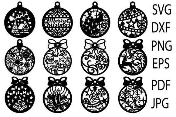 Christmas Toys, Christmas Balls Graphic Download