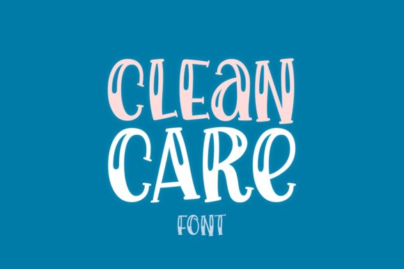 Print on Demand: Clean Care Display Font By Jasm (7NTypes)