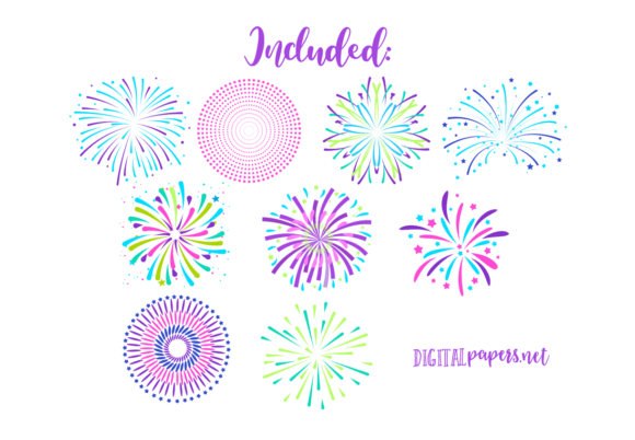 Colorful Fireworks Graphic Download