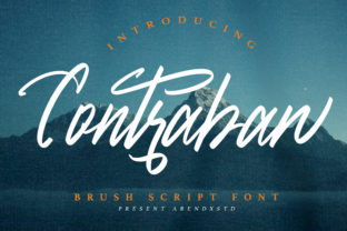 Print on Demand: Contraban Script & Handwritten Font By Arendxstudio