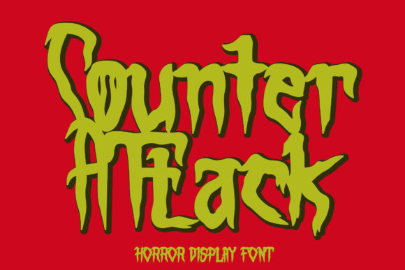 Print on Demand: Counter Attack Display Font By Arendxstudio