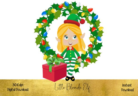 Cute Little Blonde Elf Graphic Illustrations By STBB