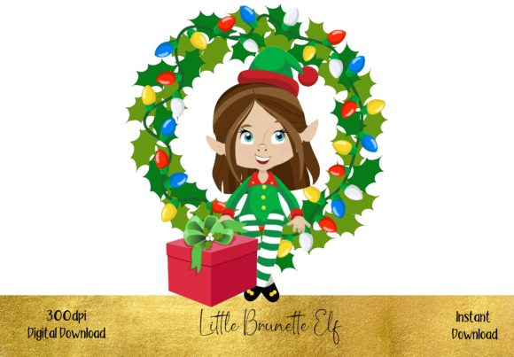 Cute Little Brunette Elf Graphic Illustrations By STBB