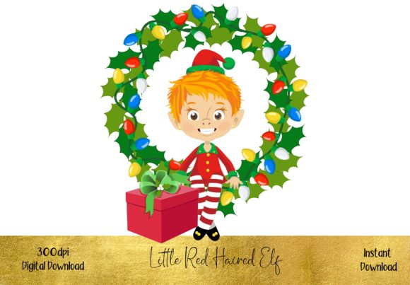 Cute Red Haired Elf Graphic Illustrations By STBB