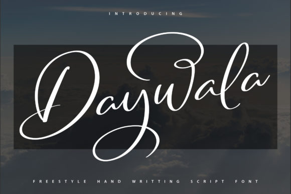 Print on Demand: Daywala Script & Handwritten Font By Vunira