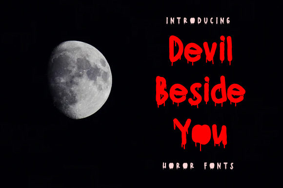 Print on Demand: Devil Beside You Display Font By Yafont