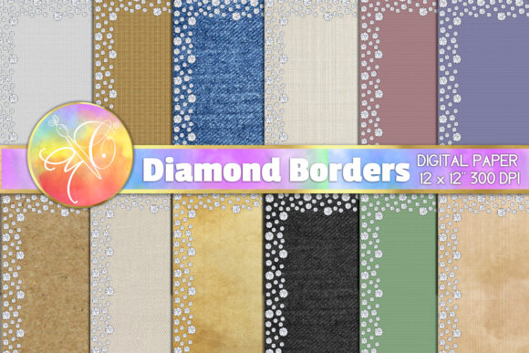 Diamond Borders Texture Paper Graphic Backgrounds By paperart.bymc