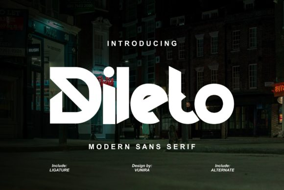 Print on Demand: Dileto Sans Serif Font By Vunira