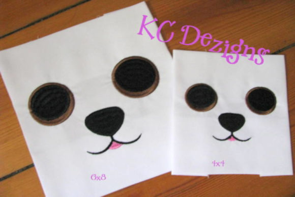 Dog Eyes and Nose Design Boys & Girls Embroidery Design By karen50