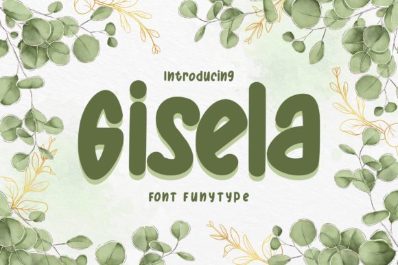 Print on Demand: Gisela Display Font By Vunira