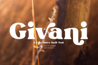 Print on Demand: Givani Serif Font By mrkhoir012