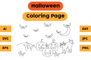 Halloween Coloring Page 15 Graphic Coloring Pages & Books Kids By isalsemarang