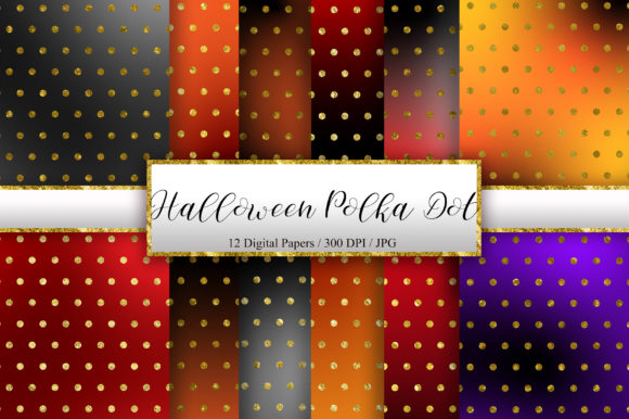 Halloween Polka Dot Glitter Background Graphic Backgrounds By PinkPearly
