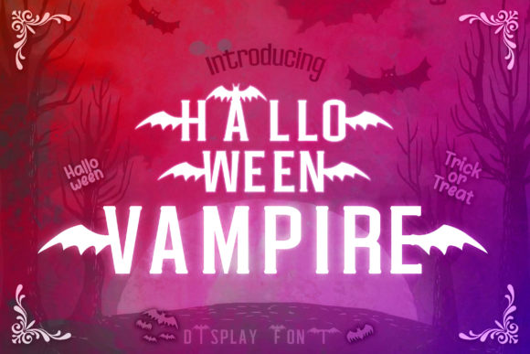 Print on Demand: Halloween Vampire Display Font By numnim