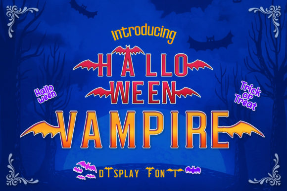 Halloween Vampire Font Preview