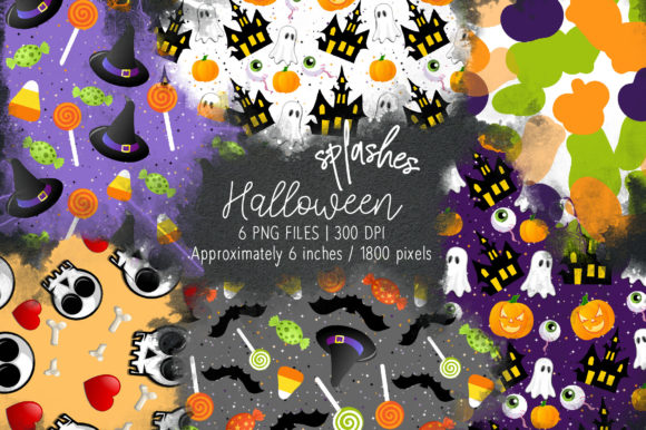 Print on Demand: Halloween Watercolor Splashes 08 Graphic Illustrations By loyaarts