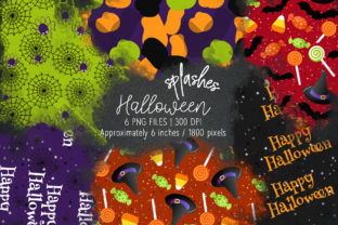 Print on Demand: Halloween Watercolor Splashes 18 Graphic Illustrations By MutchiDesign