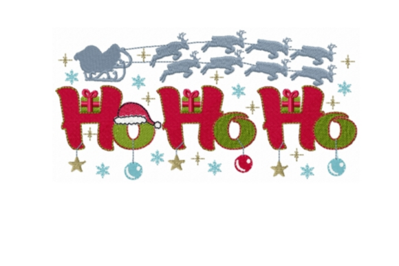Ho Ho Ho Christmas Embroidery Design By Sew Terific Designs