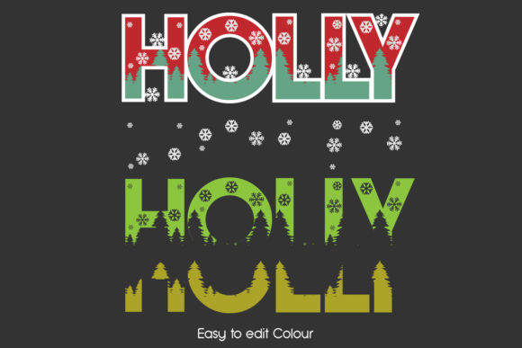 Holly Layered 3D Cut Svg Eps Ai Png File Graphic Download