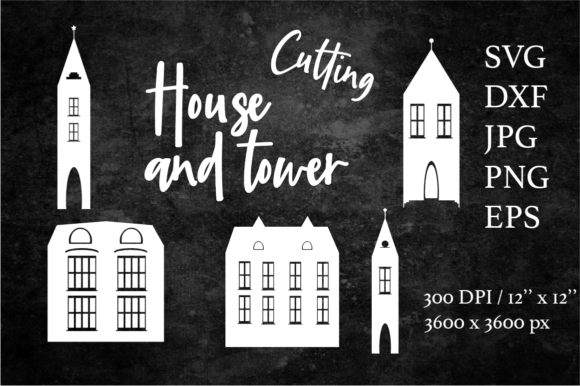 Houses and Towers Bundle Graphic Objects By Createya Design