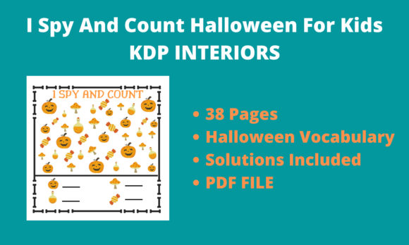 I Spy and Count Halloween for Kids Graphic KDP Interiors By KDP FOR YOU