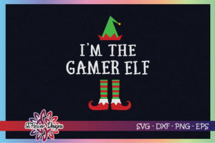 I'm the Gamer ELF Christmas Graphic Print Templates By ssflower