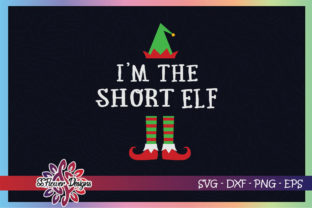 I'm the Short ELF Christmas Graphic Print Templates By ssflower
