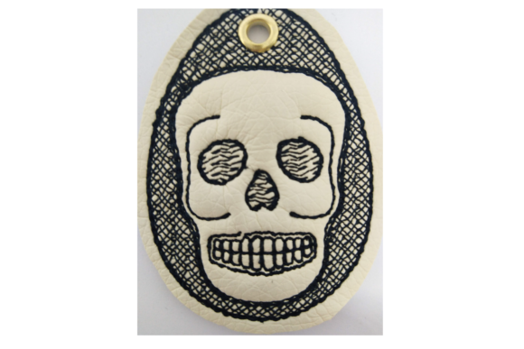 Key Fob Skull - in the Hoop Embroidery Download