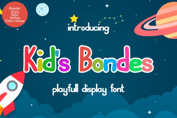 Print on Demand: Kids Bondes Display Font By pandanwangi