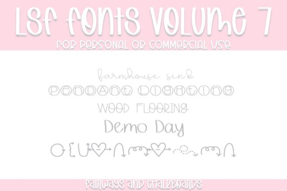 Print on Demand: LSF Volume 7 Display Font By Fairways and Chalkboards