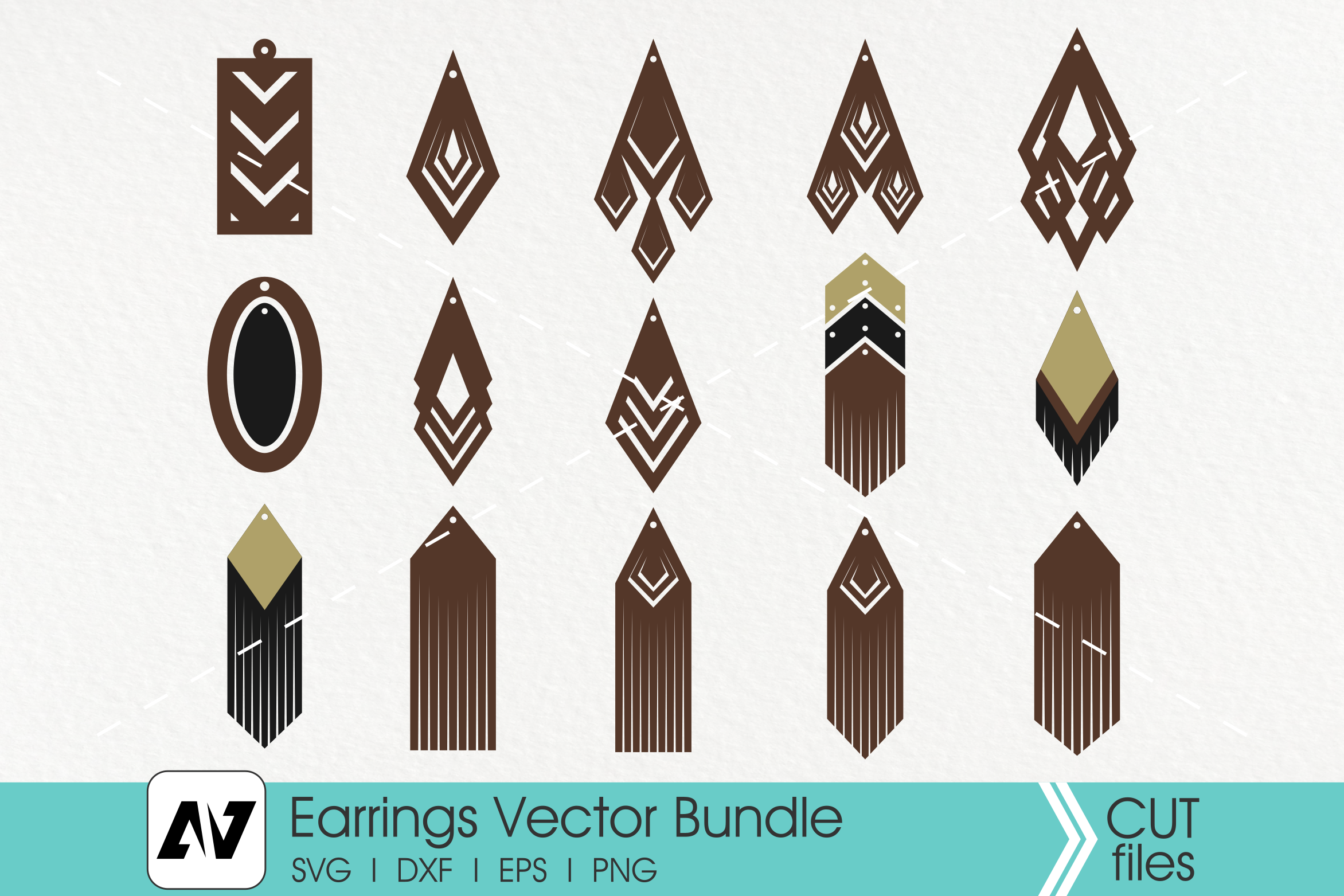 Leather Earrings SVG File