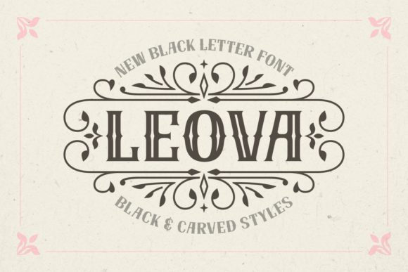 Print on Demand: Leova Blackletter Font By Jasm (7NTypes)