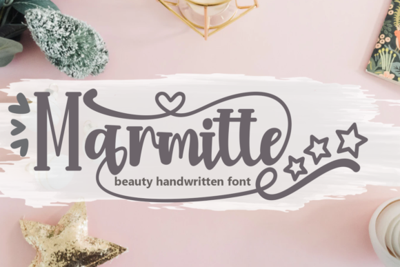 Print on Demand: Marmitte Script & Handwritten Font By Supersemar Letter