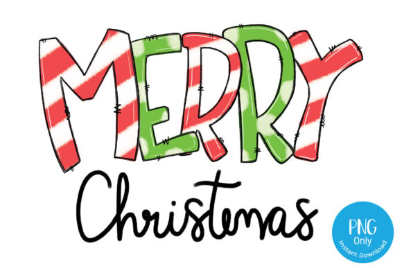 Print on Demand: Merry Christmas Lettering PNG Sublimate Graphic Crafts By Tori Designs
